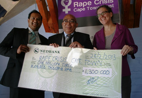 NGO Rape Crisis receives R1.3 million from Social Development Department in response to recent spate or rape and murder