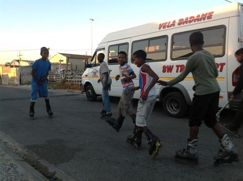 Scores of Du Noon kids choose rollerblading over tik