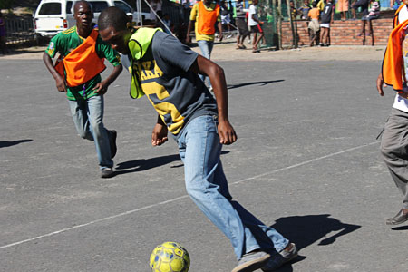 South Africa United played the Democratic Republic of Congo in the first match of the unoffical Afcon in Gugulethu on Saturday. Photo: Nombulelo Damba/WCN