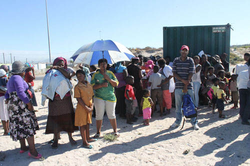 Children 'go to school' on empty Khayelitsha ground