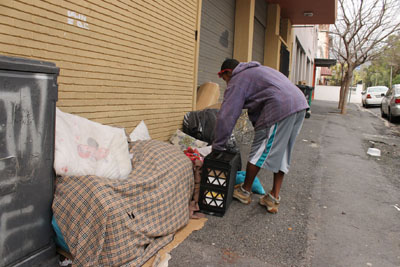 Authorities harassing, arresting City's homeless people
