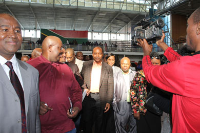 Businessman Patrice Motsepe was greeted with joy and jubilation in Khayelitsha yesterday (subs: Tues) where he announced an inaugral annual grant of R500 000 to develop and uplift the township. Photo: Nombulelo Damba/WCN