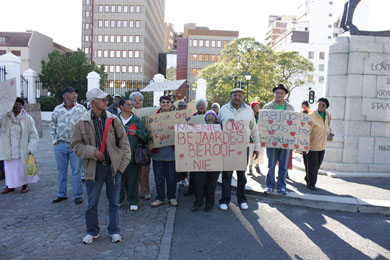 Elderly protest against abuse
