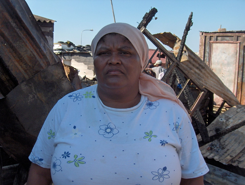 Fire guts shacks and three-bedroom house