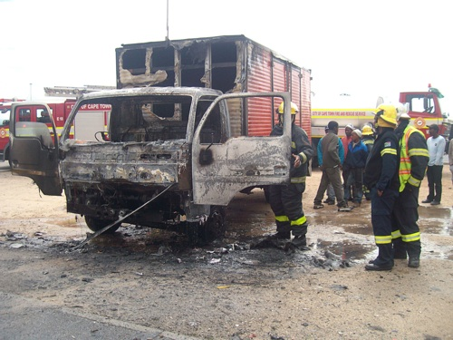 Third truck burnt in Khayelitsha