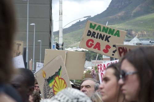 Activists protest against fracking