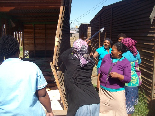 Arguments over occupation of TRA dwellings in Langa