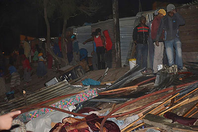 Shack fire puzzles residents – witchcraft blamed
