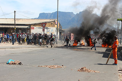 Two shot in Langa protests