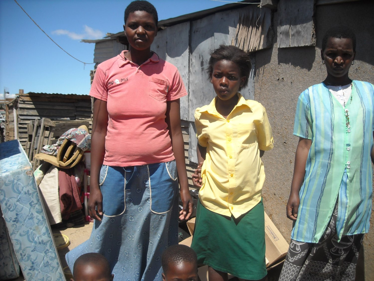 Lindiwe Jusaya, 36, (left) Cecilia Godana (middle) and Peggy Dyantyi (right), who lived in a shack that was demolished on Thursday.  Photo: Peter Luhanga/West Cape News