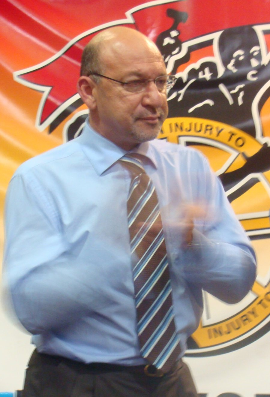 Finance Minister Trevor Manuel addressed several hundred workers at the Good Hope Centre in Cape Town on Wednesday. The event marked the launch of Cosatu's election campaign in support of the ANC. Photo: Siyabonga Kalipa/WCN