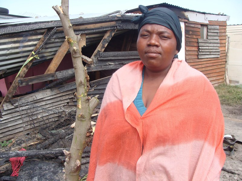 Child dies in shack fire while mother goes drinking