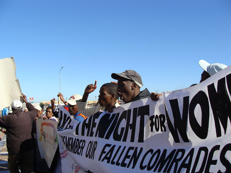 Protestors march against Khayelitsha court inefficiencies