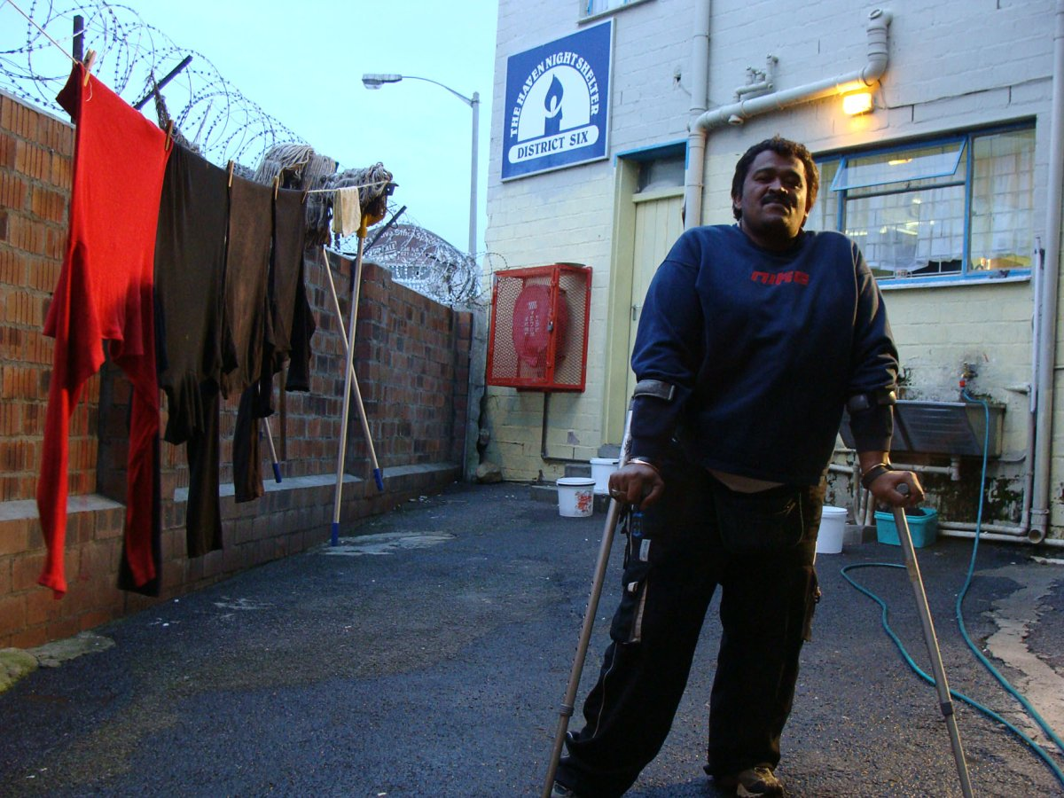 Mervin Drammat, 40, lived on the street for 26 years before he found shelter at the the Haven in District Six, where he has been for a year. But other homeless people seeking shelter are being turned away as shelters are overflowing. Photo: Sandiso Phaliso/WCN