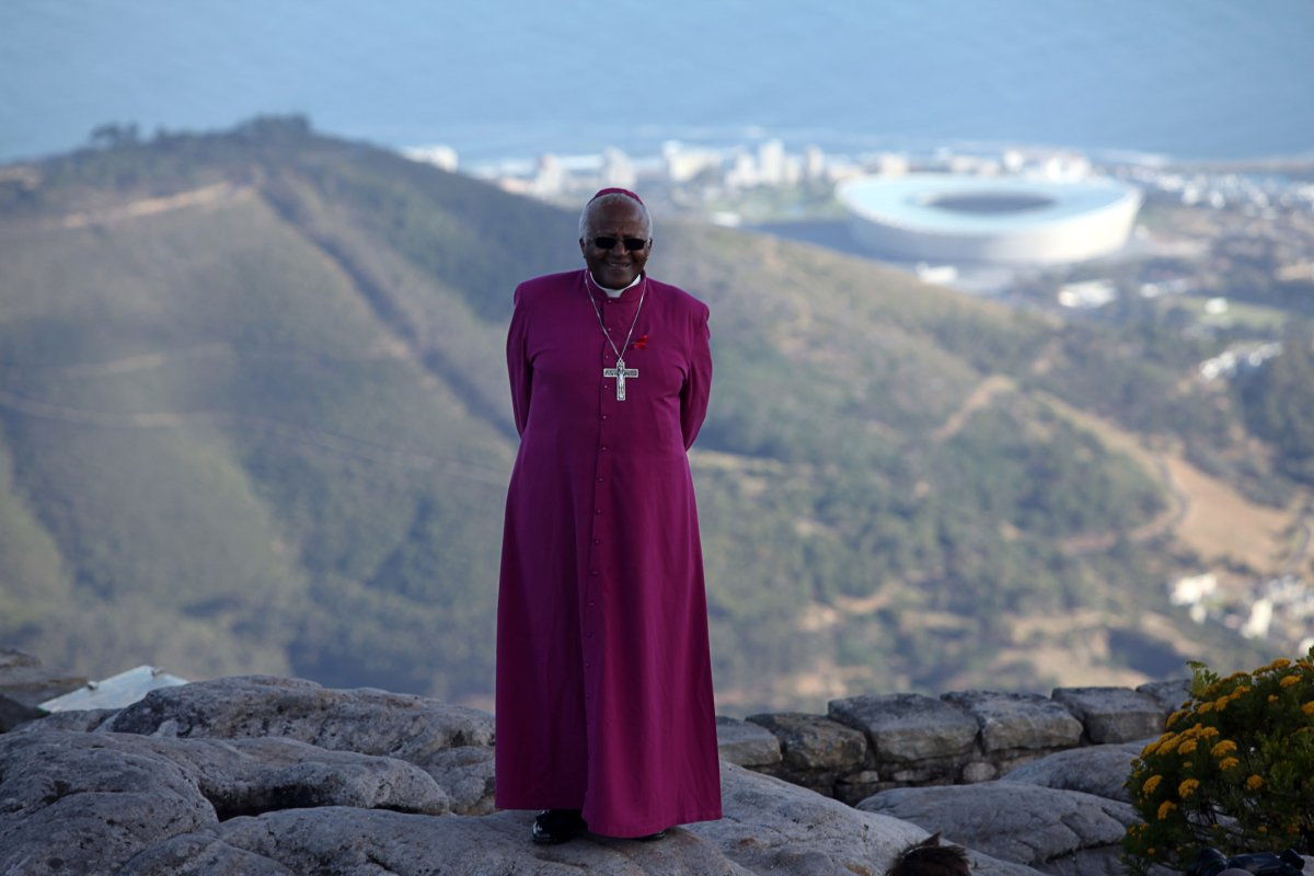 Archbishop Emeritus Desmond Tutu starts off a new ten-part TV series about South Africa on Table Mountain. . Photo: WCN