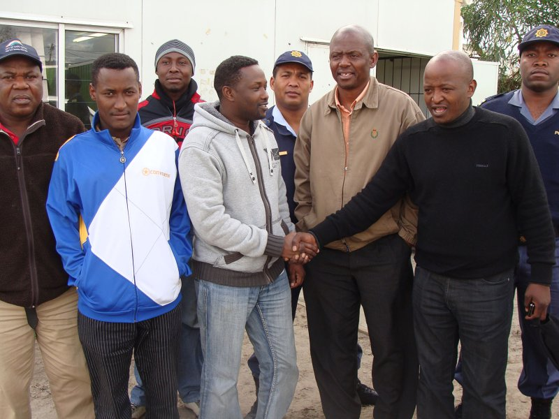 Du Noon partnership against xenophobia