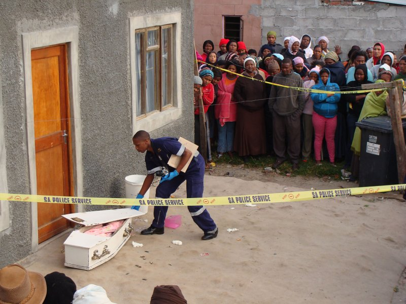 Child coffin case woman chased from home