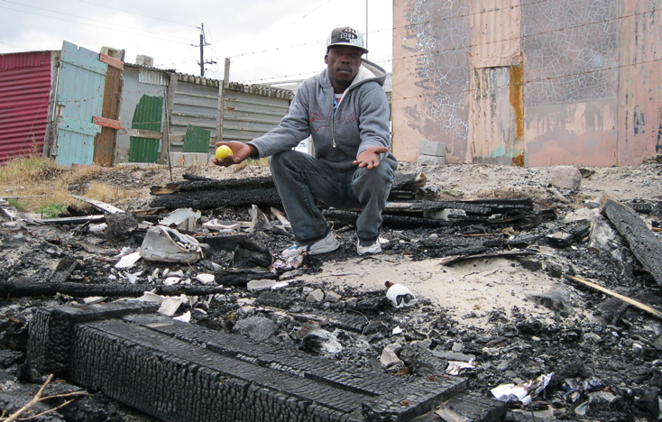 'I'm innocent', says man whose shack was burnt down