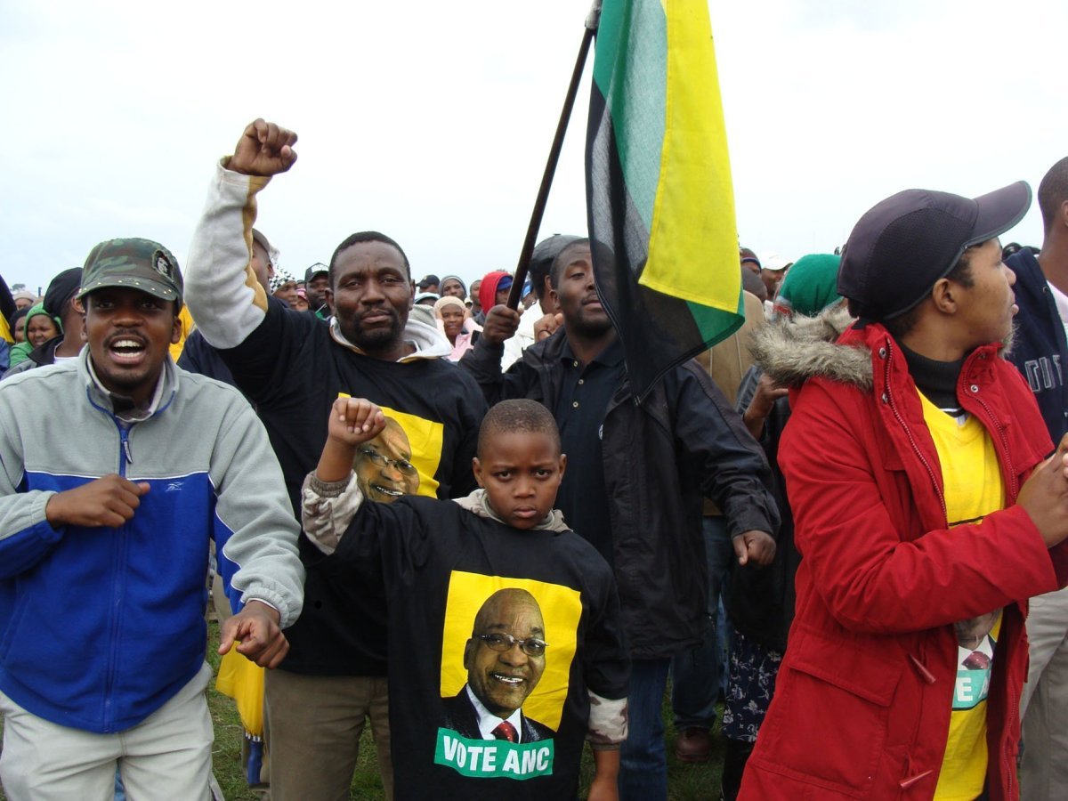 Old and young brave Cape rain for ANC rally