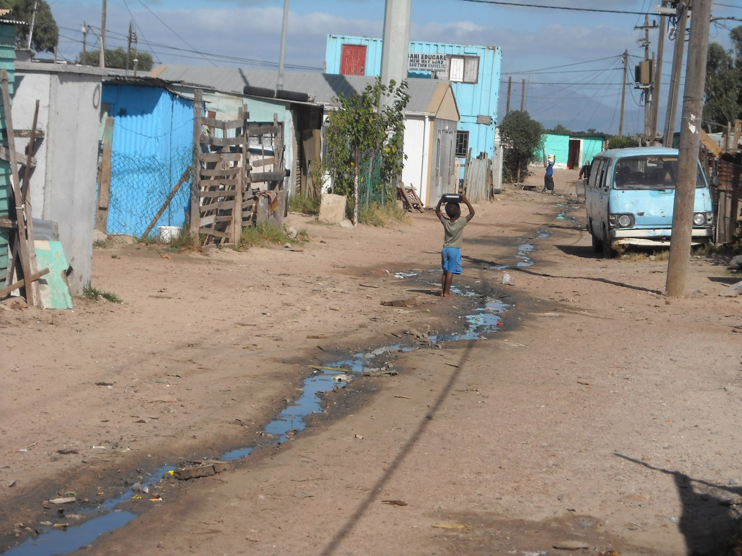 A street in TR Section, Khayelitsha, where residents have protested over lack of service delivery. Photo: Brenda Nkuna/WCN