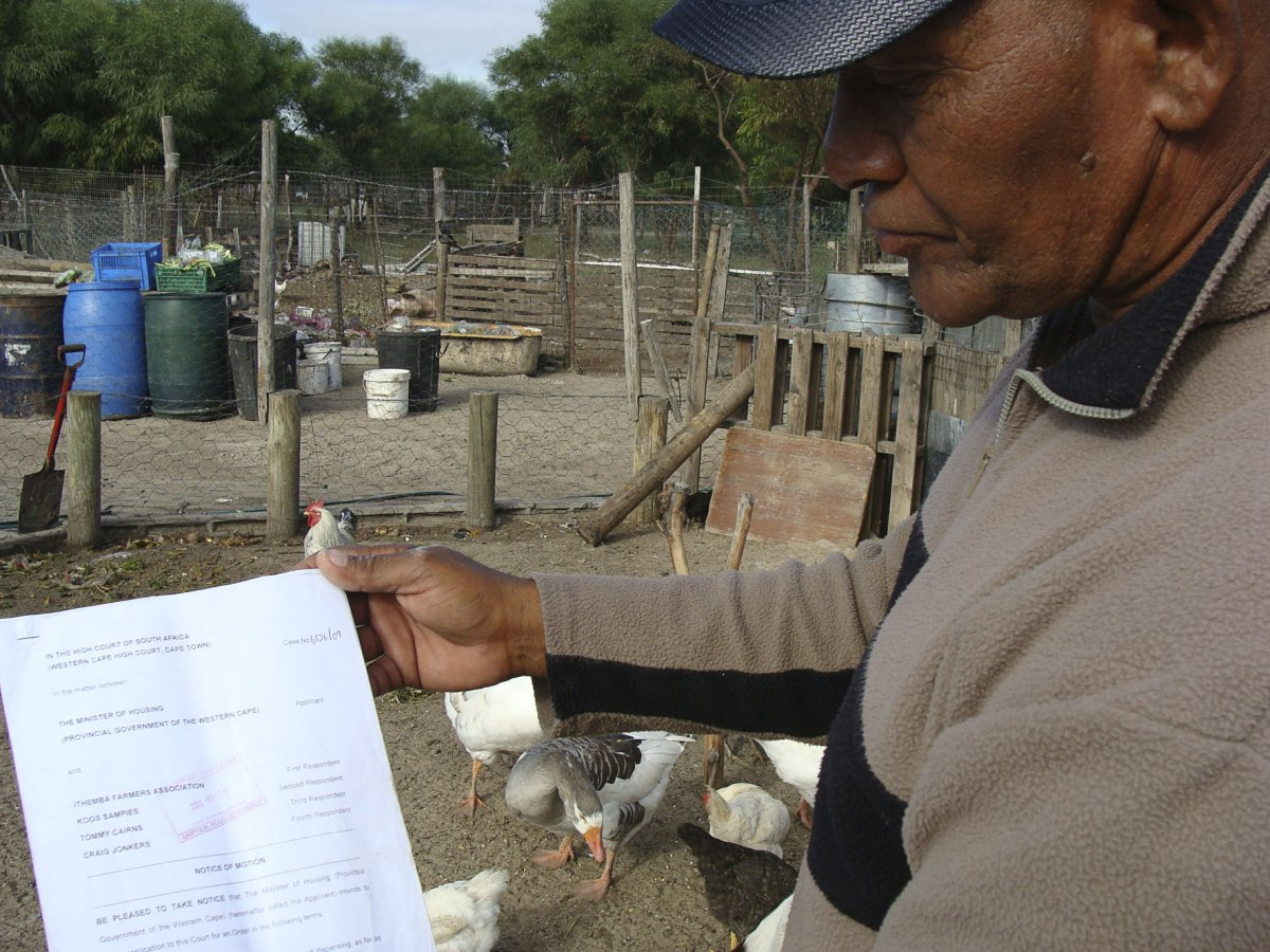Faure emerging farmers face eviction