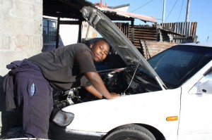 Taxis line up for teenage mechanic