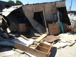 Mob destroys woman's shack after she criticises ward councillor
