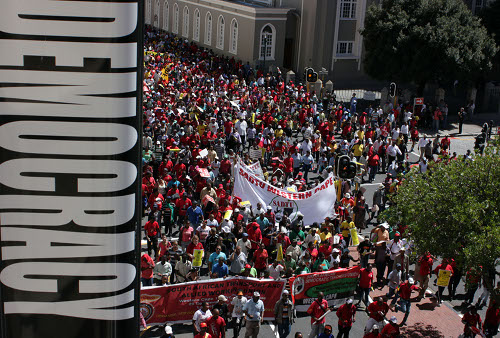 Mixed reactions over labour broking at Cape Town march