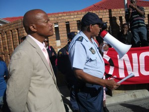 Residents march against police brutality in memory of Andries Tatane