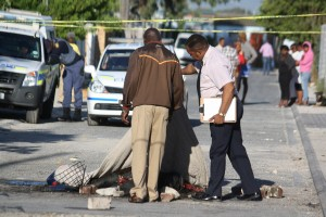 Namibian man necklaced in Philippi