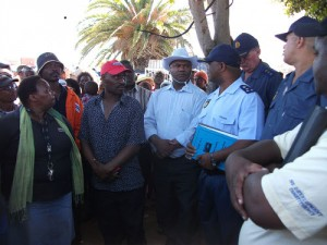 MEC joins residents in march against police brutality