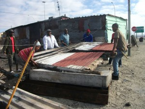 NGO's pitch in after shack fire