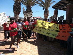 Residents continue to protest over employment at Khayelitsha hospital