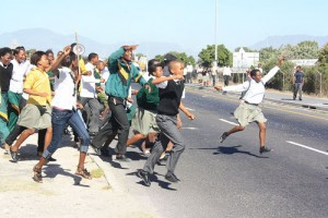 Protesting learners arrested