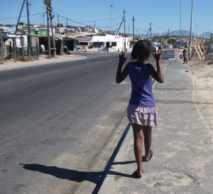 Girls join in the township teenage gang violence