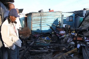 Shack fire fatalities spark protest