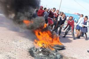 Protestors close schools
