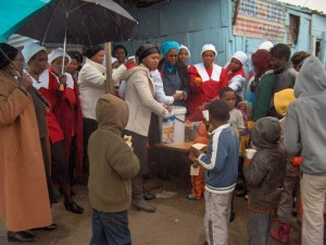 Church feeds residents as department feeding scheme funding dries up