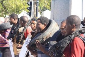 Activists demonstrate against vigilante killings