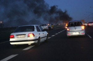 Protests block major transport routes