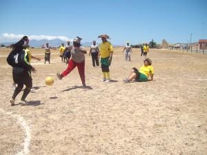 Gogos kick the ball rather than the bucket